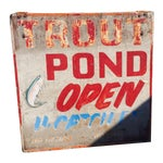 Image of Vintage Double-Sided Trout Sign