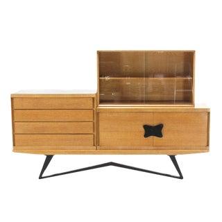 Four Piece Dresser Bookcase Storage Cabinet Ceruised Oak.