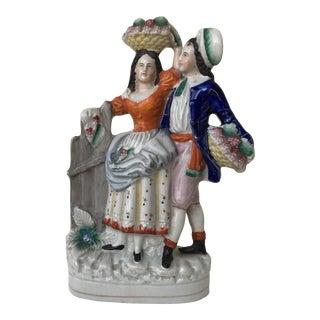 Circa 1850's Antique English Staffordshire Figurine