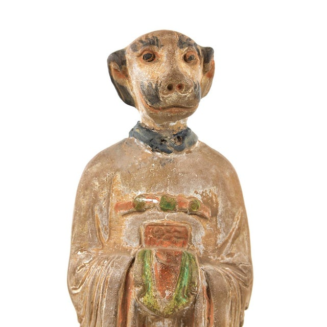 Antique Chinese Zodiac Dog Figurine - Image 7 of 9