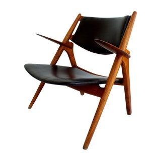 Early Hans Wegner Vintage Sawbuck Lounge Chair