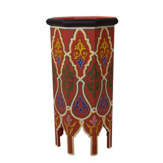 Dari Hand-Painted Side Table