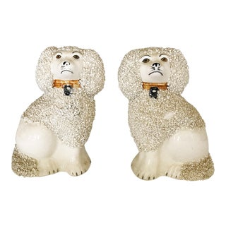Antique English Staffordshire Dogs - A Pair