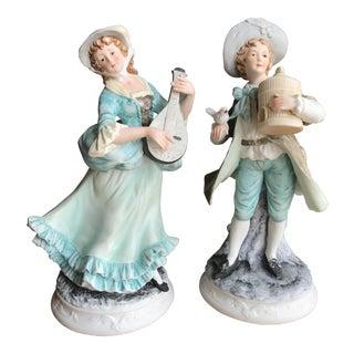 Sadek Bisque Figurines - A Pair