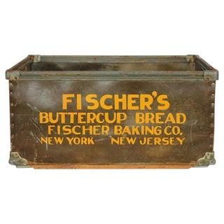 Vintage American Industrial Advertising Masonite Bin or Box