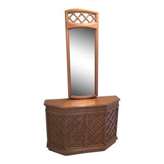 Mid-Century Modern Entryway Cabinet & Mirror