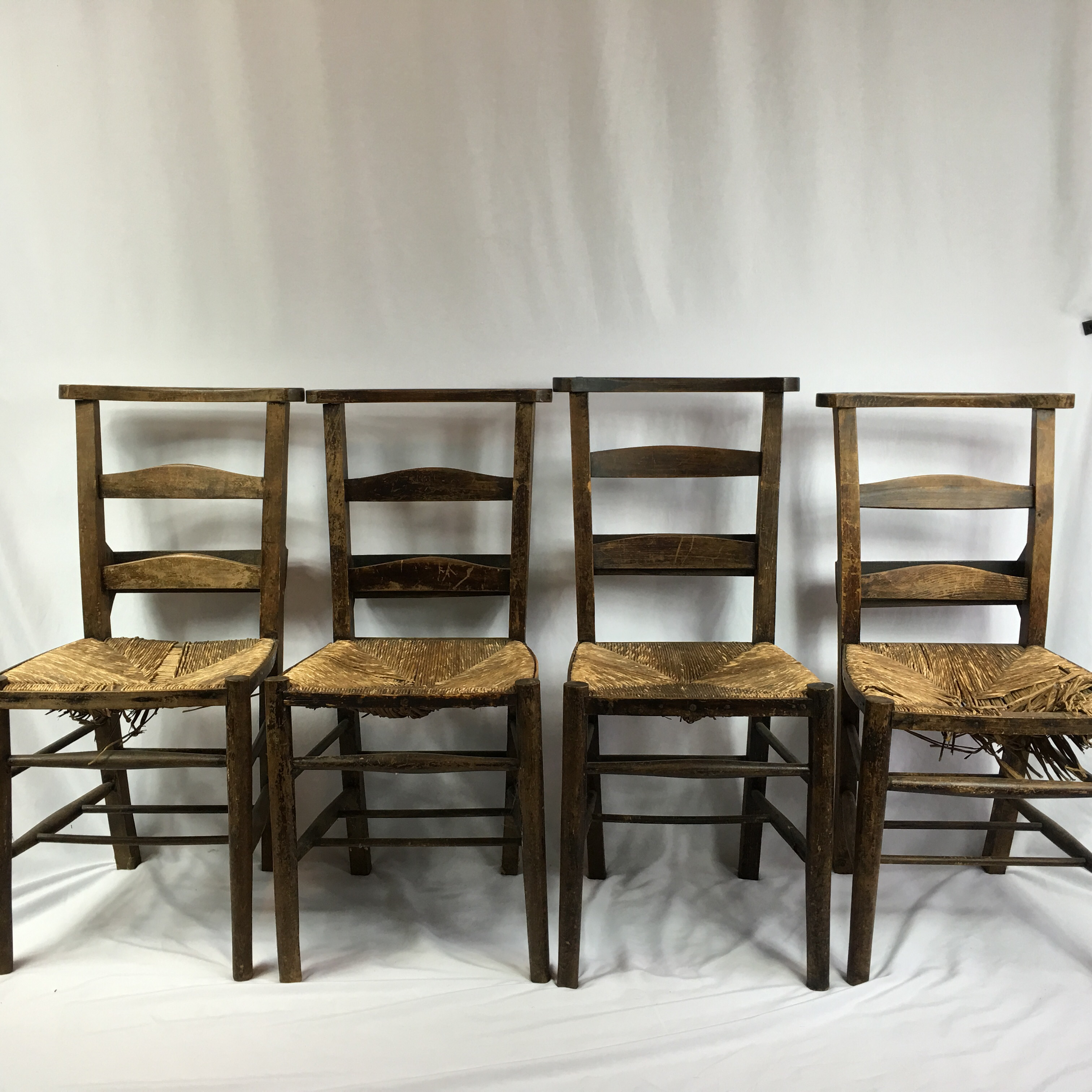 antique primitive shaker church chairs set of 4 image 5 of 11