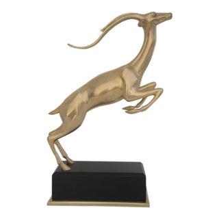 Hollywood Regency Brass Impala Statue