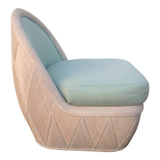 Unique Deco Rattan Slipper Chair by Ficks Reed