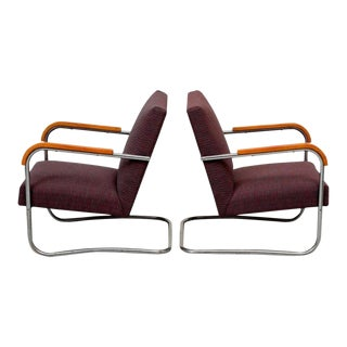 Pair of Lounge Chairs by Anton Lorenz for Thonet, 1930s
