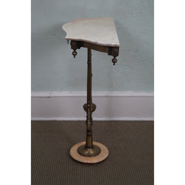 Italian Hollywood Regency Marble Top Console Table - Image 3 of 10
