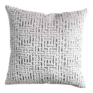 Crosshatch Velvet Pillow Cover