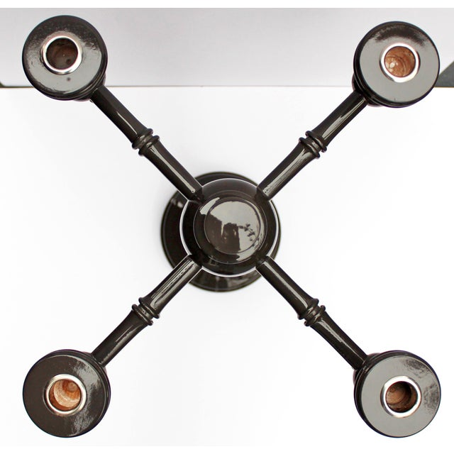 "Dunes and Duchess ""Moderne"" Candelabra in Grey - Image 7 of 7"