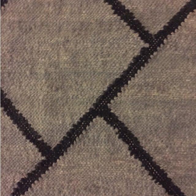 Gray and Black Bamboo Silk Rug - 9' x 12' - Image 4 of 6