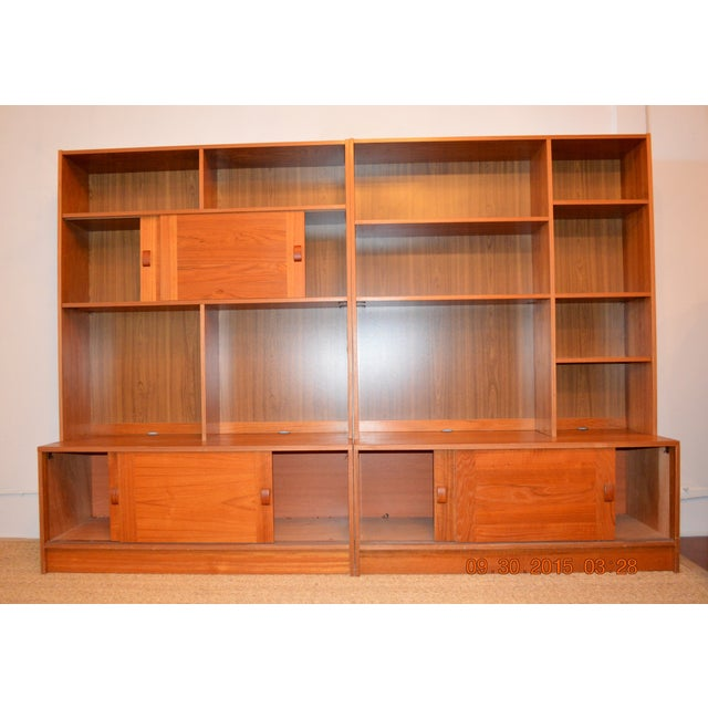 Image of 2-Piece Danish Modern Bookcase