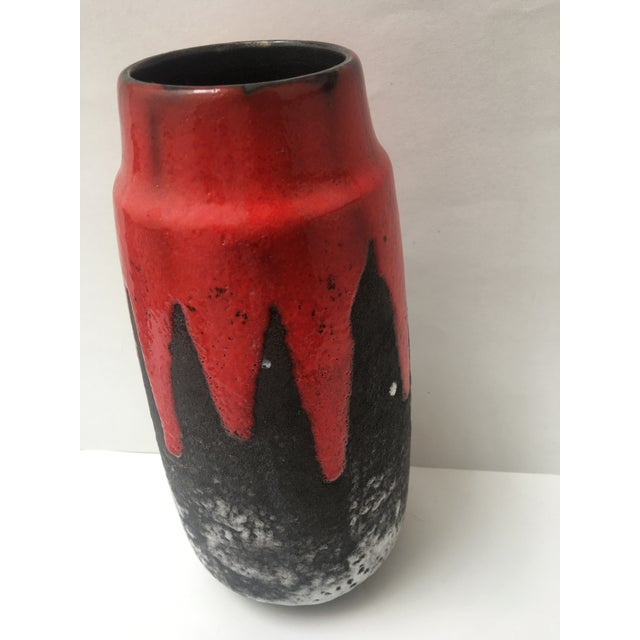 Scheurich West German Fat Lava Cylindrical Vase - Image 6 of 8