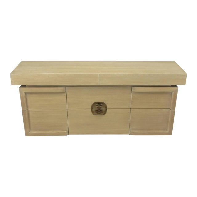 Image of Driftwood Mahogany Eight-Drawer Chest in the Style of James Mont