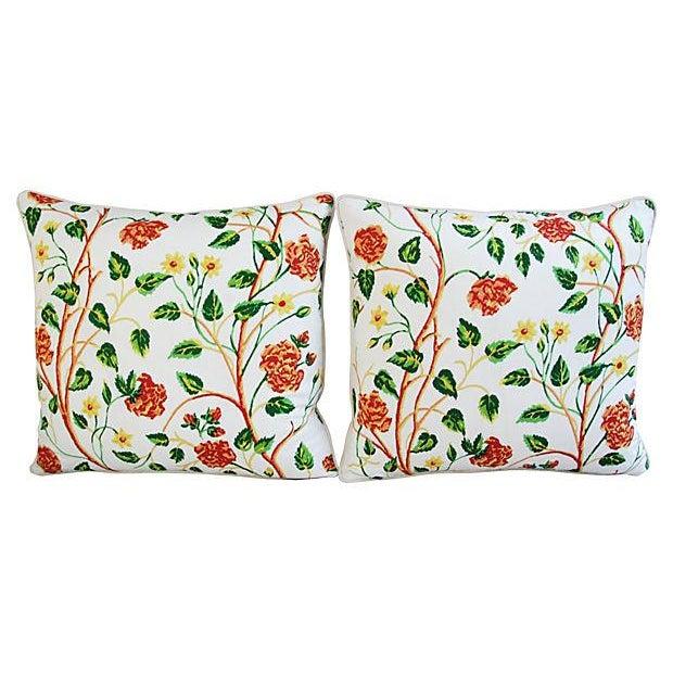Custom Scalamandre William & Mary Pillows - Pair - Image 3 of 8