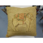Image of Beige Asian Elephant Pillow
