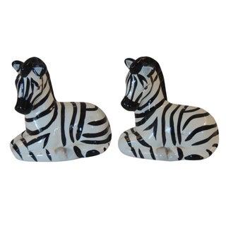 Zebra Figure Salt & Pepper Shakers - A Pair