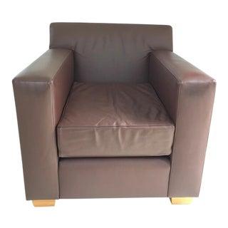 De La Espada Chocolate Brown Leather Club Chair