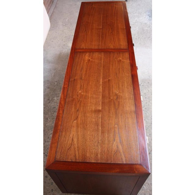 1970s Walnut, Bamboo and Cherry Credenza after Harvey Probber - Image 8 of 10