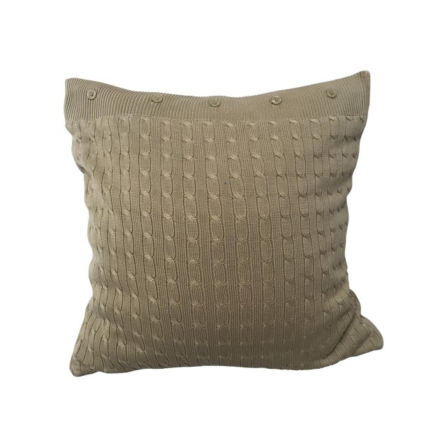 Ralph Lauren Decorative Couch Pillows : Ralph Lauren Cotton Cable-Knit Throw Pillow Chairish