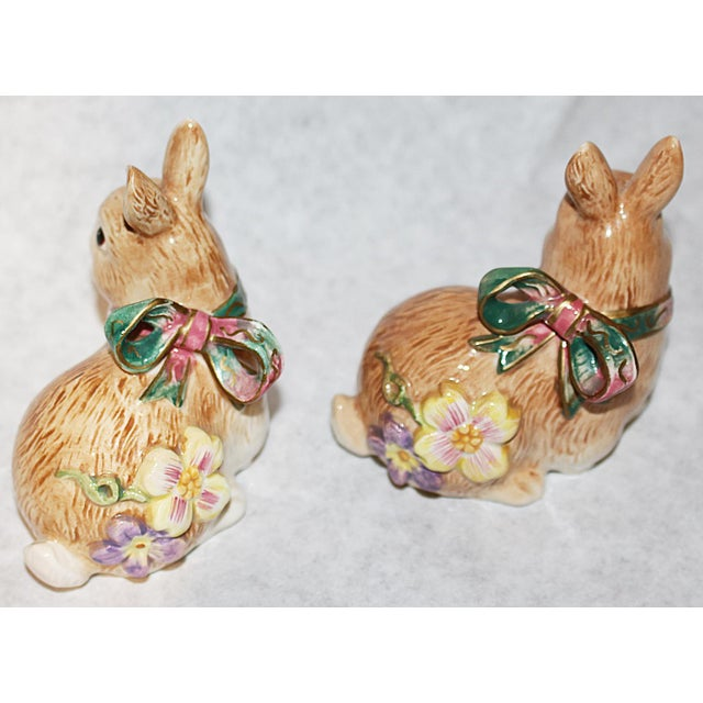 Fitz and Floyd Bunny Rabbit Shakers - Set of 4 - Image 7 of 11