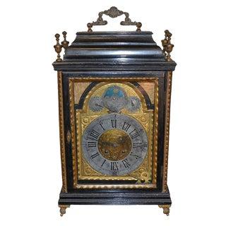 Continental Ebony & Giltwood Clock