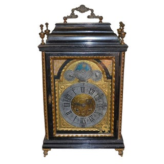 Continental Ebony & Giltwood Clock