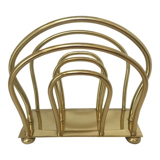 Dorothy Thorpe Brass Magazine Rack