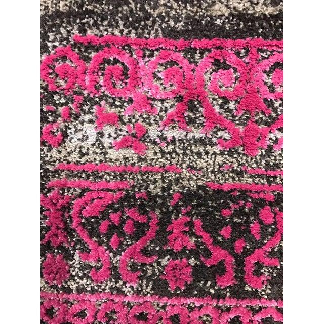 black pink transitional rug 5 39 x 8 39 chairish. Black Bedroom Furniture Sets. Home Design Ideas