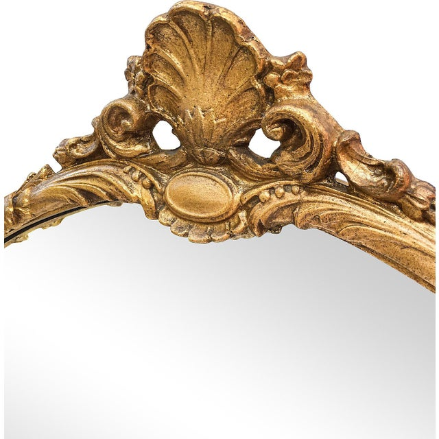 Oversized Hand-Carved Gold Mirror - Image 3 of 10