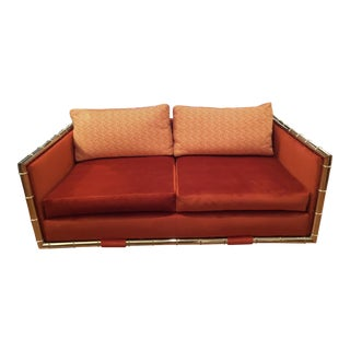 Faux Bamboo Chrome Frame Adrian Pearsall Loveseat