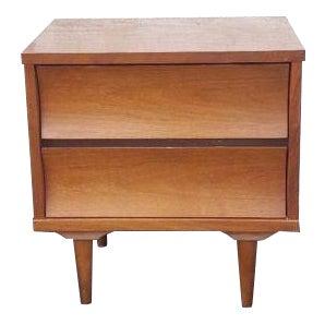 Johnson Carper Walnut Two Drawer Nightstand