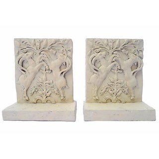 Ram Relief Bookends - A Pair