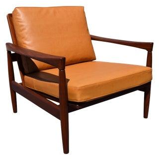 Vintage Erik Wortz for Bröderna Andersson Danish Modern Teak Kolding Lounge Chair