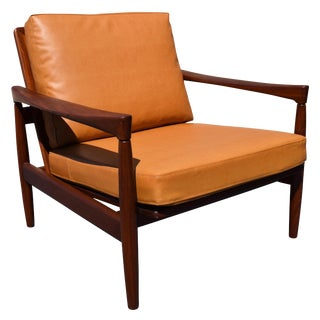 Vintage Erik Wortz for Bröderna Andersson Danish Modern Teak Kolding Lounge Chair