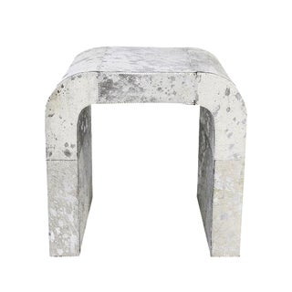 Forest Collection Cowhide Silver Side Table