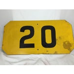 Image of Vintage Yellow Railroad Train Speed Limit Sign