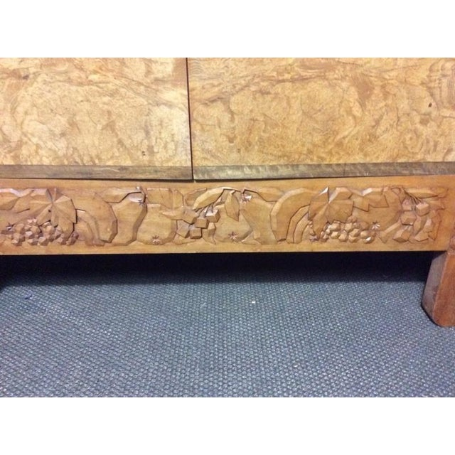 Engraved Limestone Inlay : Carved wood and marble bar cabinet chairish