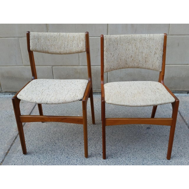 Danish Modern Teak Dining Chairs - A Pair - Image 3 of 7