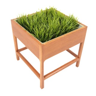 Danish Modern Solid Oak Square Planter
