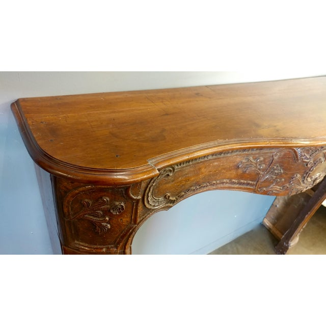 19th Century Hand Carved Walnut Fire Mantel - Image 7 of 10