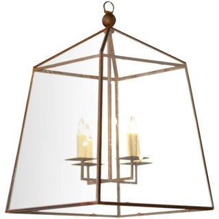 "Customizable Custom-Made, American Iron and Glass ""Seneca"" Lantern"