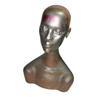 Silver Mannequin Head