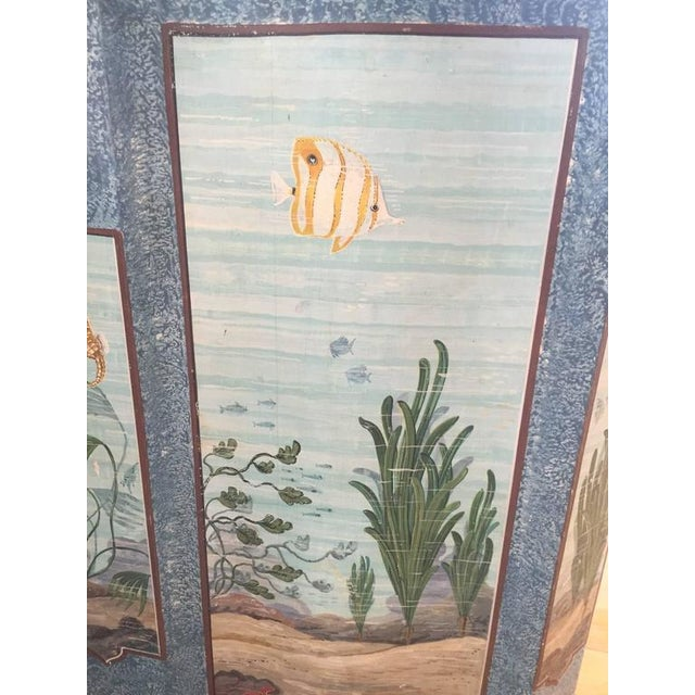 Hand-Painted Aquatic Turtle-Footed Chest Dresser - Image 6 of 8