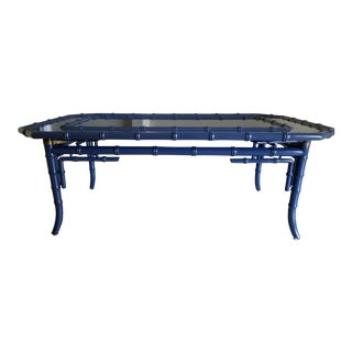 Chippendale Style Royal Blue Coffee Table