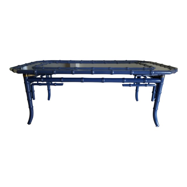 Chippendale Style Royal Blue Coffee Table Chairish
