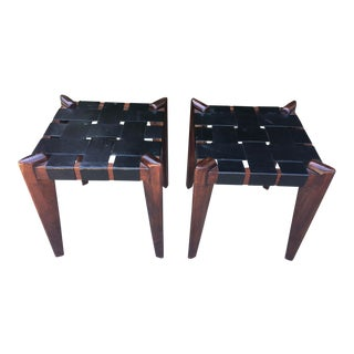 Pair of French Modernist Stools, Manner of Royere